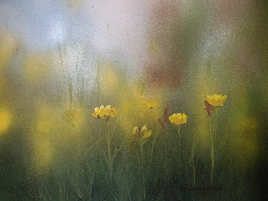 frances-whitfield-buttercups-in-the-mist-acrylic-11-x-14